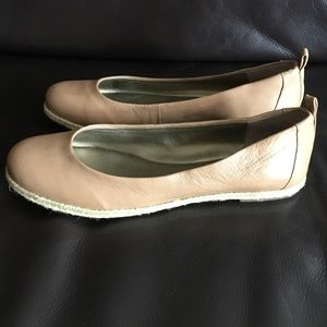 NWOT Taupe Espadrille Flats